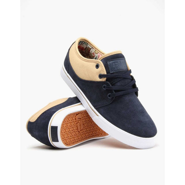 GLOBE MAHALO SKATE SHOES - NAVY JUNGLE