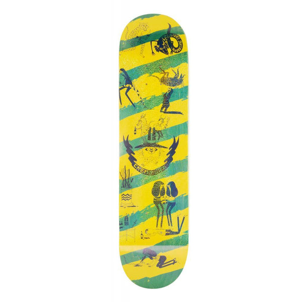 CREATURE SNAKE BARF SM SKATEBOARD DECK YELLOW & GREEN - 8.0""