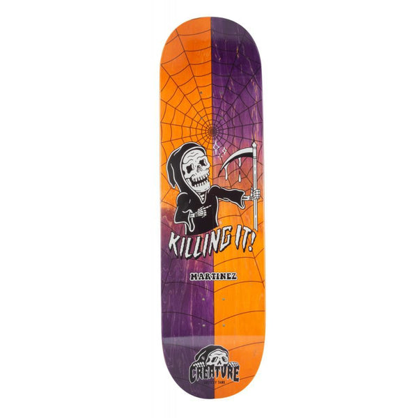CREATURE MARTEZ SKETCHY MOJI P2 PRO SKATEBOARD DECK PURPLE & ORANGE - 8.6""