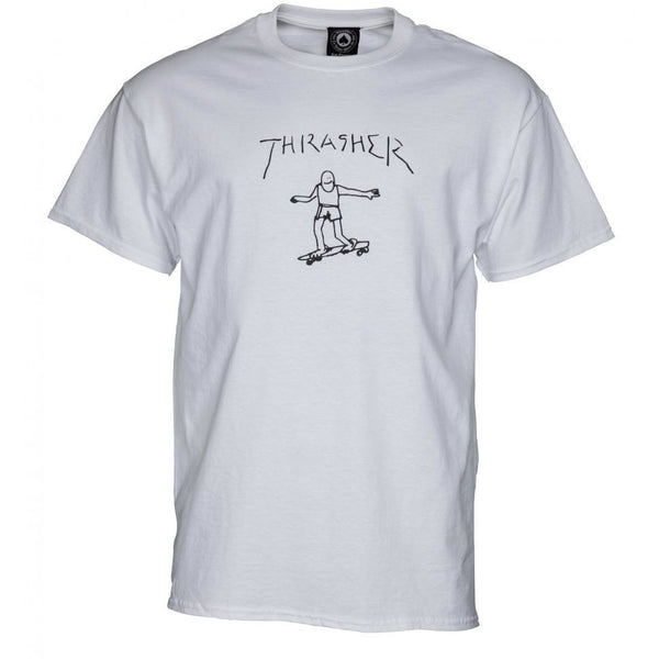 THRASHER SKATE GONZ T-SHIRT - WHITE