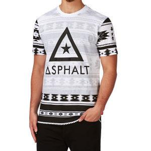 ASPHALT YACHT CLUB TRIBEZ REVERSE PRINT T-SHIRT - BLACK/WHITE