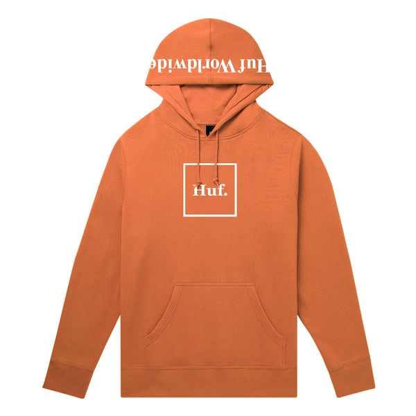 HUF BOX LOGO PULLOVER HOODIE - RUST