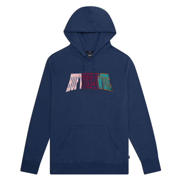HUF SUSPENSION ARCHED PULLOVER HOODIE - INSIGNIA BLUE