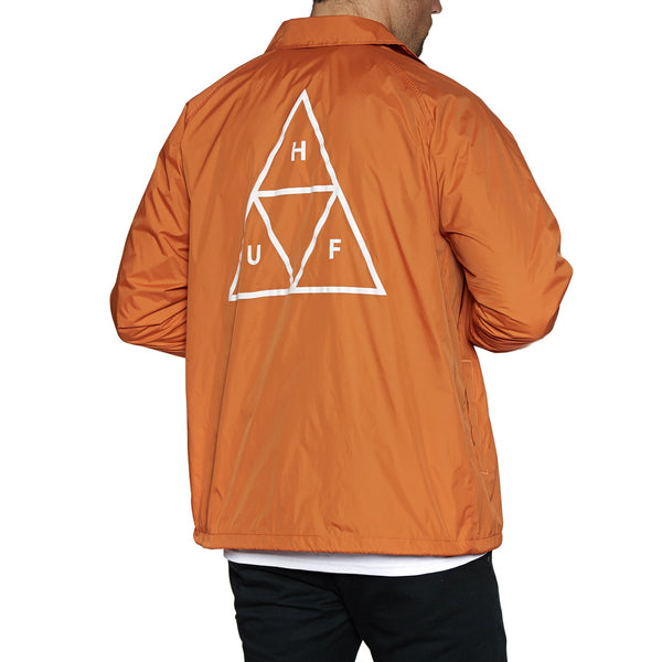 HUF TRIPLE TRIANGLE COACHES JACKET - RUST