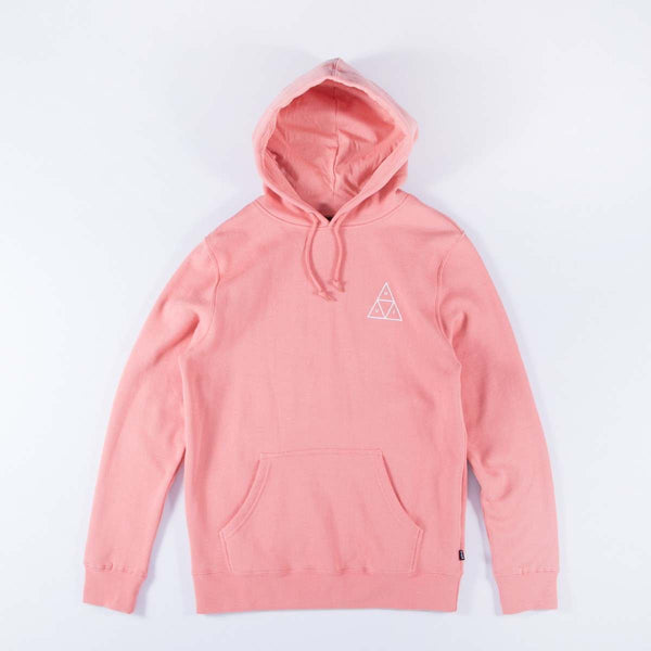 HUF TRIPLE TRIANGLE PULLOVER HOODIE - CORAL HAZE