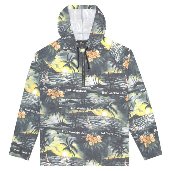 HUF VENICE PACKABLE ANORAK JACKET - MULTI