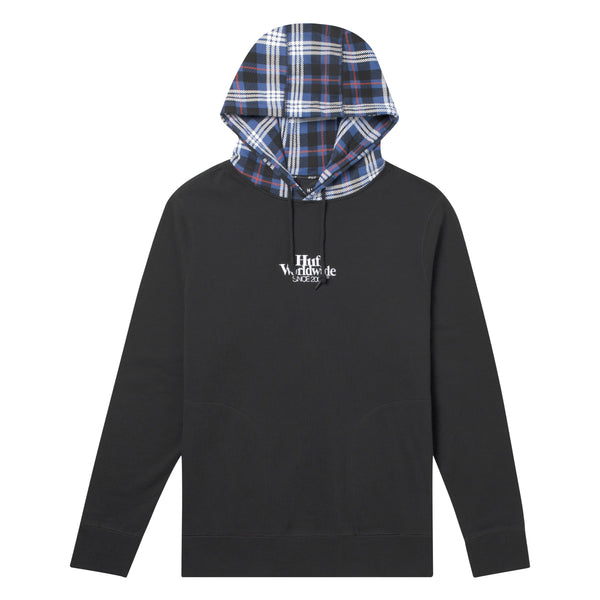 HUF VICIOUS PULLOVER HOODIE - BLACK