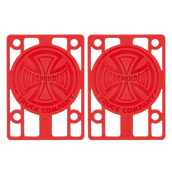 INDEPENDENT SHOCK RISER PADS PACK OF 2 RED - 1/8