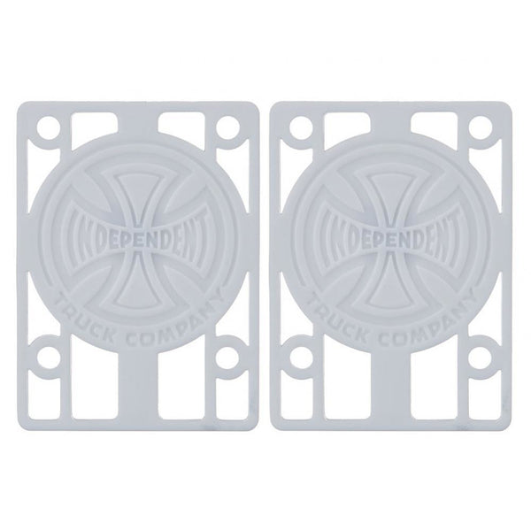 INDEPENDENT SHOCK RISER PADS PACK OF 2 WHITE - 1/8