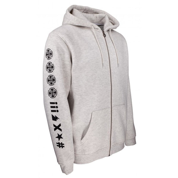 INDEPENDENT ANTE ZIP UP HOODIE - ATHLETIC HEATHER