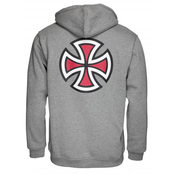 INDEPENDENT BAR CROSS HOODIE - DARK HEATHER