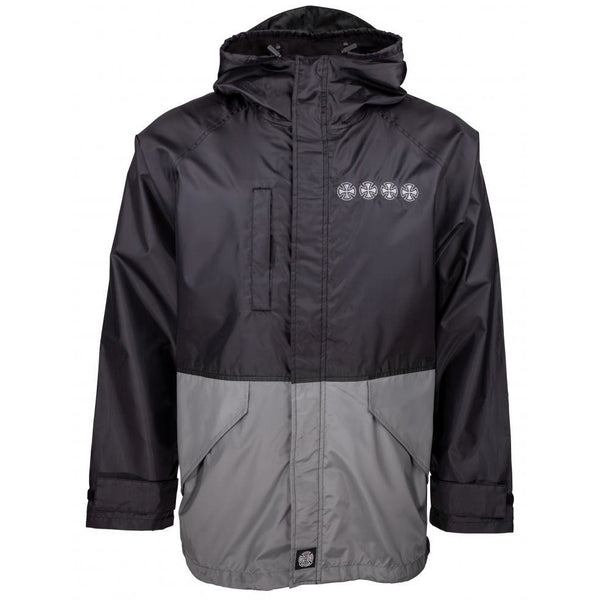 INDEPENDENT WINDBREAKER JACKET - BLACK/CHARCOAL