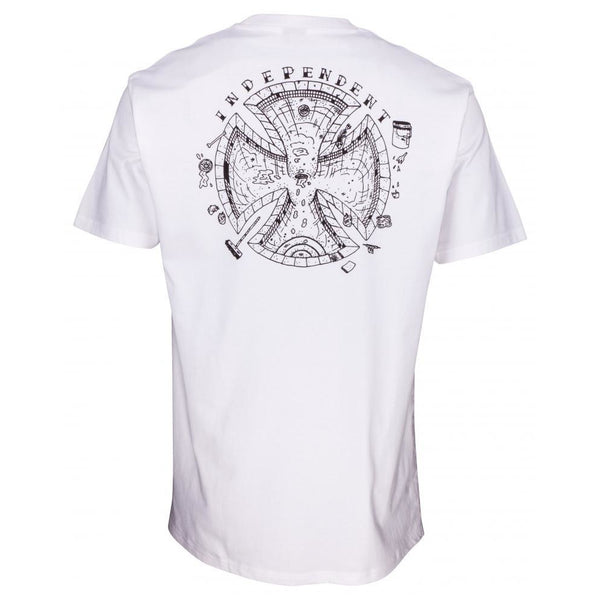 INDEPENDENT POOL SCUM T-SHIRT - WHITE