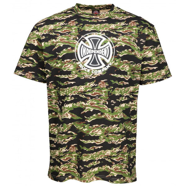 INDEPENDENT TRUCK CO T-SHIRT - TIGER CAMO