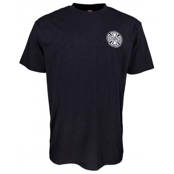 INDEPENDENT T/C EMBROIDERY T-SHIRT - BLACK
