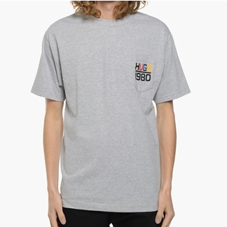 THE HUNDREDS SAIL POCKET T-SHIRT - ATHLETIC HEATHER