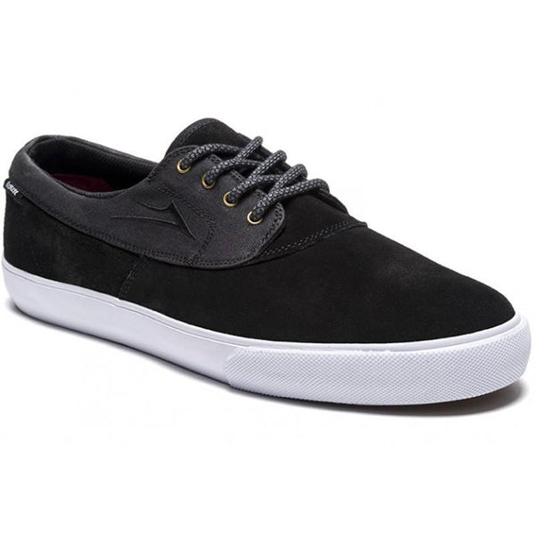 LAKAI CAMBY MID MS414 SKATE SHOES - BLACK SUEDE