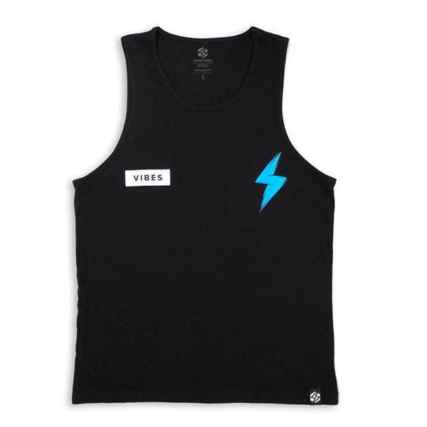 ELECTRIC FAMILY BIG BOLT VEST TOP - BLACK