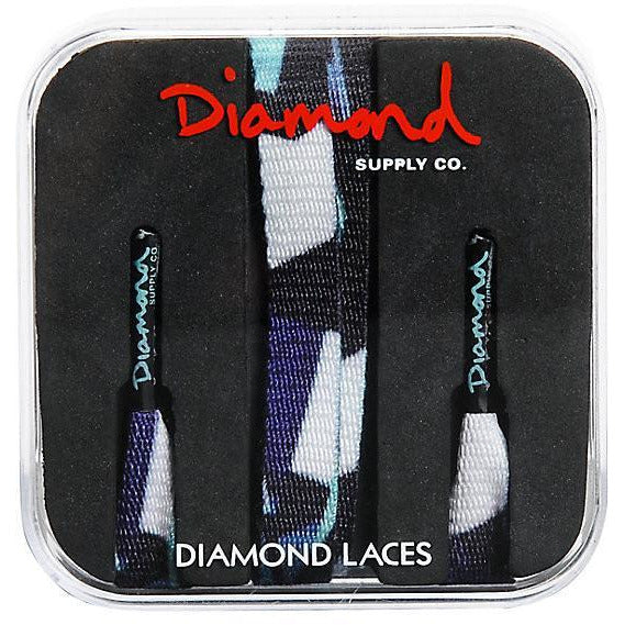 DIAMOND SUPPLY CO SIMPLICITY SHOE LACES - BLUE