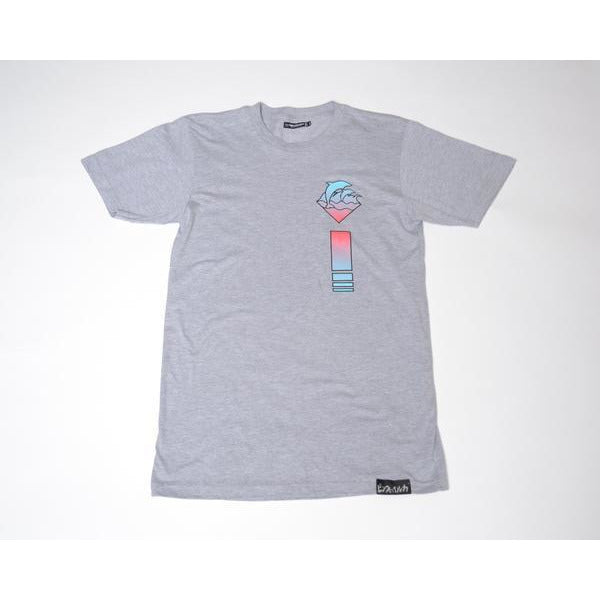 PINK DOLPHIN WAVES PULSE T-SHIRT - GREY