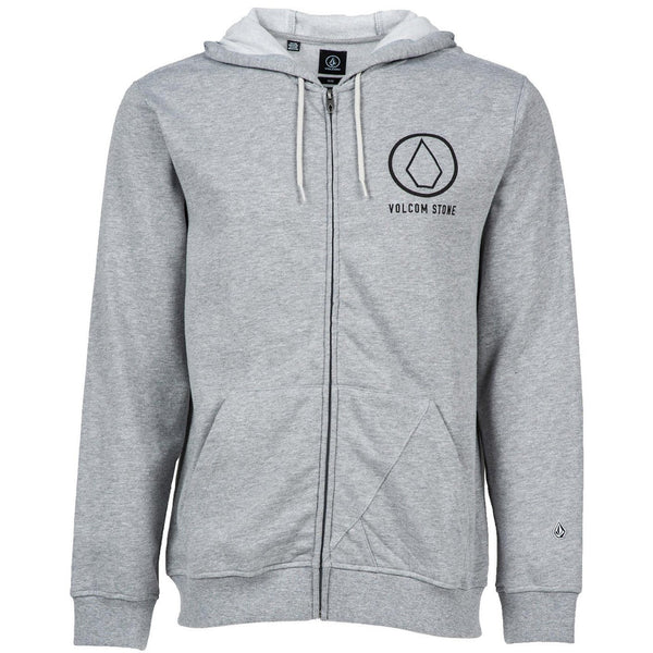 VOLCOM STRAY DOG ZIP HOODIE - HEATHER GREY