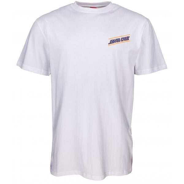 SANTA CRUZ MULTI STRIP T-SHIRT - WHITE