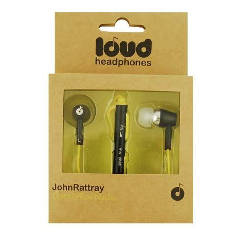 LOUD JOHN RATTRAY COMFY EARBUDS - BLACK/YELLOW