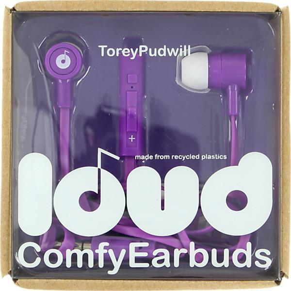 LOUD FAT AND FLAT TOREY PUDWILL EARBUDS - PURPLE