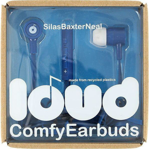 LOUD FAT AND FLAT SILAS BAXTER EARBUDS - BLUE