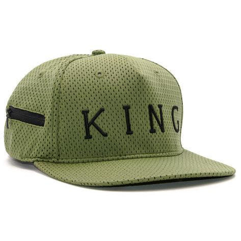 KING APPAREL AESTHETIC SNAPBACK HAT - OLIVE