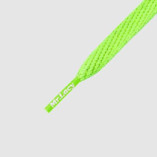 MR.LACY SMALLIES SHOELACES - NEON GREEN