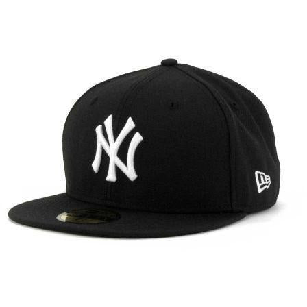 NEW ERA NEW YORK YANKEES YOUTH FITTED CAP - BLACK/WHITE