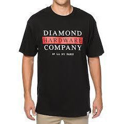 DIAMOND SUPPLY CO HARDWARE STACK T-SHIRT - BLACK
