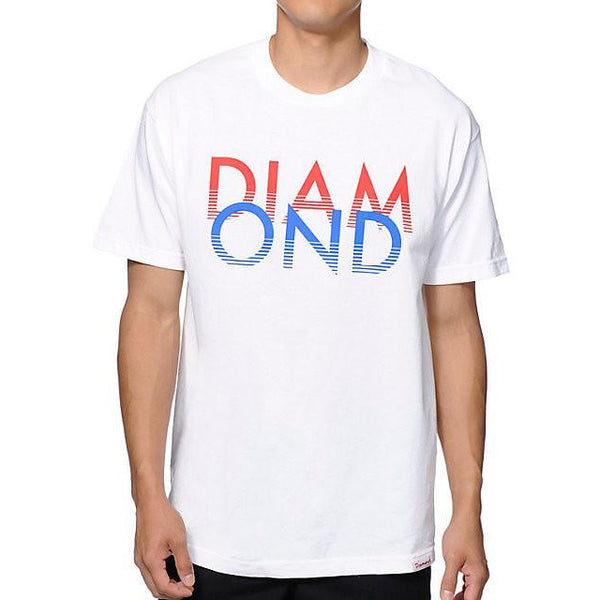 DIAMOND SUPPLY CO WHITE SANDS T-SHIRT - WHITE