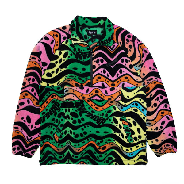 RIPNDIP RIPPLE FLEECE HALF ZIP JACKET - MULTI