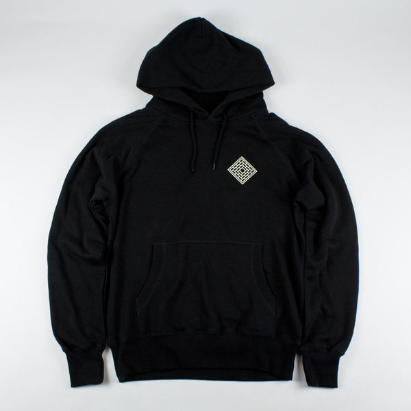THE NATIONAL SKATEBOARD CO DIVISION HOODIE - BLACK/WHITE