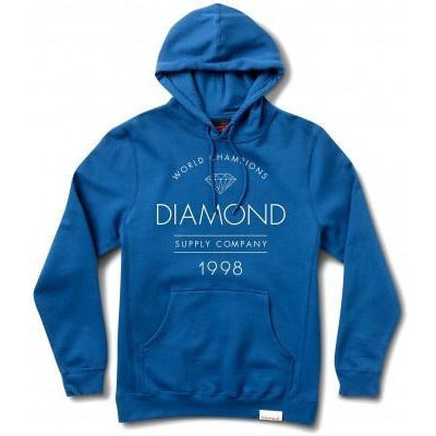 DIAMOND SUPPLY CO CRAFTMAN PULLOVER HOODIE - BLUE