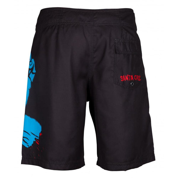 SANTA CRUZ SCREAMING HAND BOARDSHORTS - BLACK