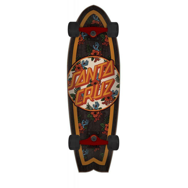 SANTA CRUZ VACATION DOT SHARK COMPLETE CRUISER MULTI - 8.8""
