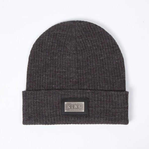 KING APPAREL SCRIPT HERITAGE BEANIE - GREY