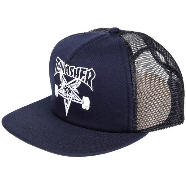 THRASHER SKATEGOAT EMBROIDED MESH CAP - NAVY