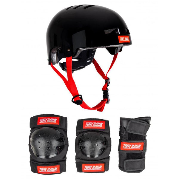 TONY HAWK CHILDREN'S HELMET & PAD PROTECTIVE SET L/XL 52 - 56CM 9Y +