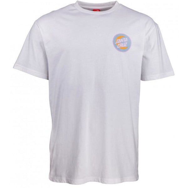 SANTA CRUZ MOON DOT BADGE T-SHIRT - WHITE