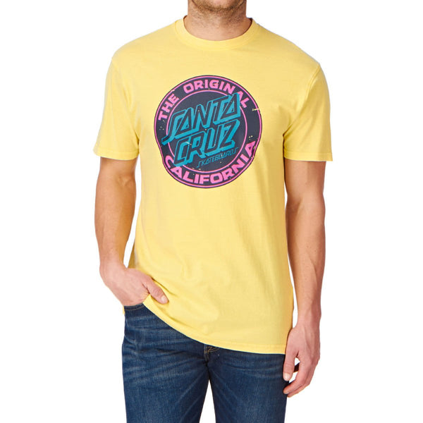 SANTA CRUZ CALI DOT T-SHIRT - VINTAGE LEMON