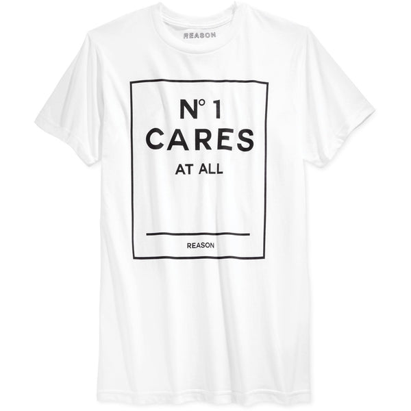 REASON NO1 CARES GRAPHIC T-SHIRT - WHITE/BLACK