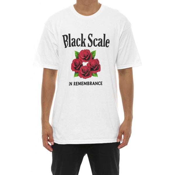 BLACK SCALE MEMORIAL T-SHIRT - WHITE