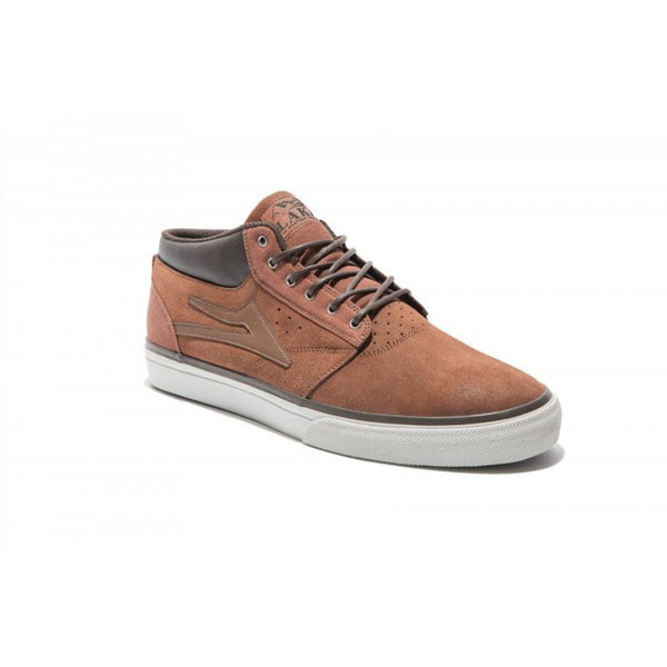 LAKAI GRIFFIN MID AW MS314 SKATE SHOES - BROWN SUEDE