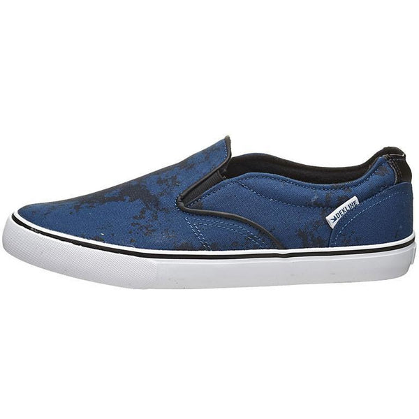 DEKLINE CT SLIP SKATE SHOES - NAVY/WHITE