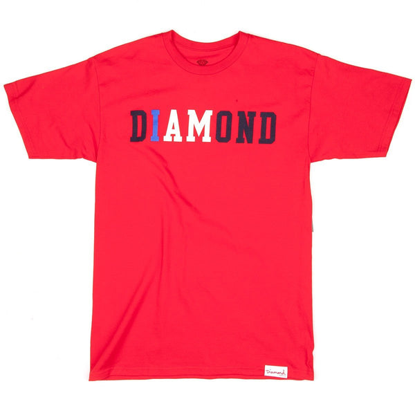 DIAMOND SUPPLY CO I AM T-SHIRT - RED