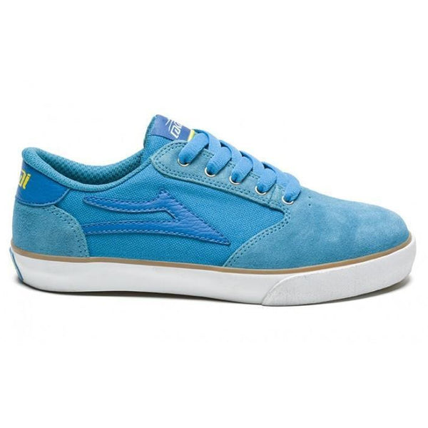 LAKAI KIDS PICO KS413 SKATE SHOES - BRIGHT BLUE SUEDE